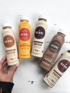 Being Healthy. What It All Comes Down To - Rachael's Good Eats Juice Packaging, Coffee Packaging, Beverage Packaging, Coffee Branding, Think Food, Love Food, Milk Recipes, Healthy Recipes, Diy Food Gifts
