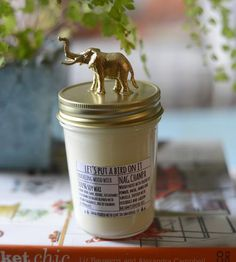 Elephant Lid Nag Champa Scented Soy Candle | Warm up any lackluster space with this hand-poured soy wax can... | Candles