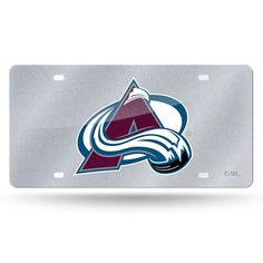 Colorado Avalanche NHL Bling Laser Cut Plate Cover