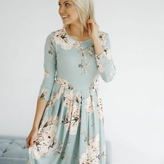 Journey Five | Carmen Floral Round Hem Dress #springstyle #springfashion