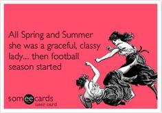 football season - cannot wait! :-)