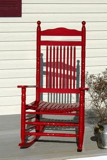 Red Rocking Chair   I Have A Chair Just Like This But White. I May Have To  Paint It! :)
