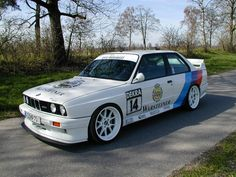 Tuned BMW with White Rims