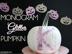 Monogram Glitter Pumpkin