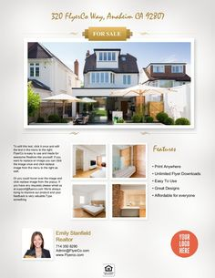 A beautiful real estate flyer from https://www.flyerco.com that you can use yourself #realtor #realestate #realestateagents