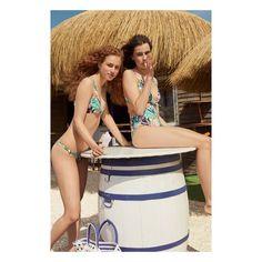 Tropical trikini Tropical halter bikini top Bikini Halter, Bikini Tops, Bikinis, Swimwear, Summer Beach, Tropical, Fashion, Beach Bars, Spring Summer Trends