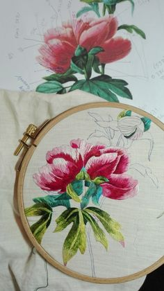 Peinture à l'aiguille réalisée par Anita