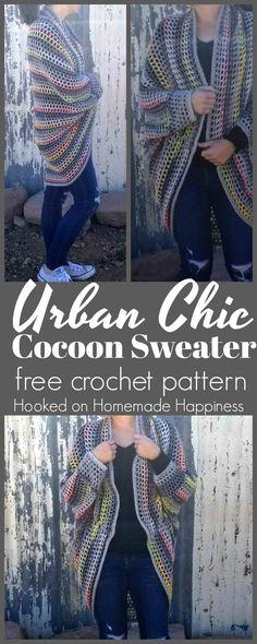 cocoon sweater free crochet pattern