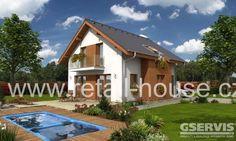 Rodinný dům, drevostavba, Deco na klíč.  2 235 000 Kč - Na klíč 2 145 000 Kč - Na dokončení  Dispozice: 4+1 Zastavěná plocha: 99,2 m2 Obestavěný prostor: 496,5 m3 Celková užitková plocha: 141 m2 UP. přízemí: 81,2 m2 UP. podkroví: 60,5 m2