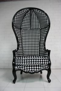 Houndstooth Balloon Chair...woof