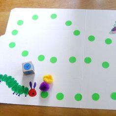 Make a Caterpillar File Folder Game