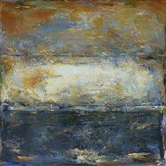 Smoldering Sky by Francesco Agresti Oil and Cold Wax ~ 48 x 48