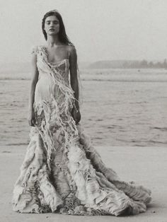 The Oyster dress, again, by Alexander McQueen