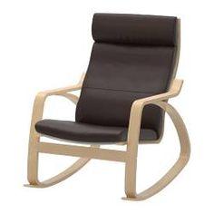 POÄNG Rocking-chair - Glose dark brown - IKEA