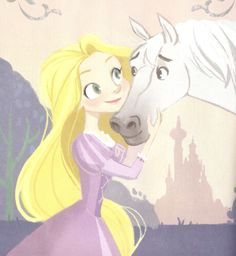 Rapunzel and Maximus from the little golden book Best Disney Movies, Disney Films, Disney And Dreamworks, Disney Pixar, Disney Characters, Disney Princess Rapunzel, Tangled Rapunzel, Disney Tangled, Cute Disney