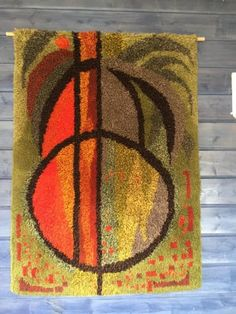 Hall Carpet Runners For Sale Refferal: 3885794654 Rug Hooking Patterns, Textile Patterns, Textile Design, Textiles, Rya Rug, Wool Rug, Japanese Stamp, Latch Hook Rugs, Retro Room