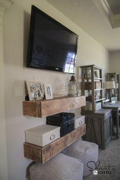 DIY Media Shelves