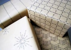 Christmas gifts handmade wrapping paper