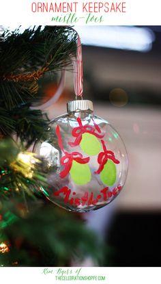 DIY Keepsake Ornament: Mistle-Toes   Kim Byers, TheCelebrationShoppe.com #keepsake #toeprintart