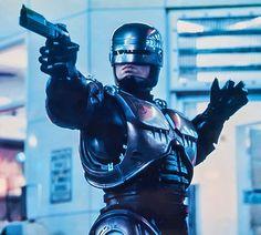 Peter Weller as Officer Alex J. Murphy/RoboCop in RoboCop.