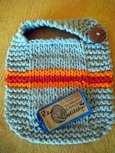 Purse made from yarn that has been recycled from thrifted t-shirts!