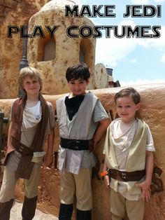 Make Star Wars Jedi play costumes! #StarWars #Jedi #costume