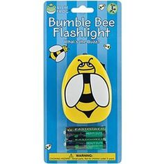 "Rich Frog Bumble Bee Flashlight by Rich Frog. $6.24. Light up the night with these cute flashlights from Rich Frog. Keep these at your little one's bedside to help them feel secure if they wake up in the night. Flashlights are designed for kids ages 3+ years old. At this stage, children are becoming evermore independent and simply require toys that allow them to let their imaginations run wild. Two demo ""AA"" batteries included Ages 3 Years +"