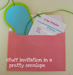 Great tutorial for making these cute spa party invitations.