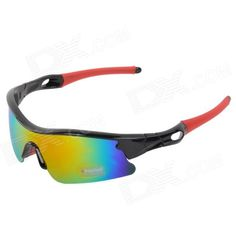 CARSHIRO 9384 Outdoor Cycling UV400 Protection Polarized Lens Sunglasses - Black   Red Price: $10.00