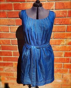 McCall's Vogue Patterns V1236 DKNY  Denim Dress with sunray topstitching