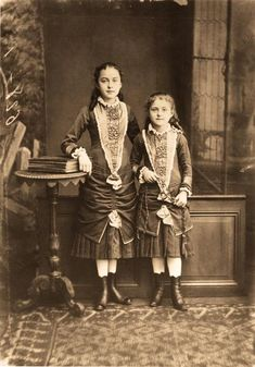 Saint Therese of Lisieux (right) and her sister Celine in 1881.