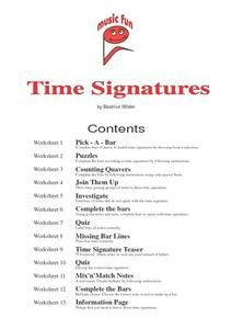 Time Signatures Worksheet