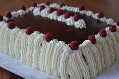TARTA DE CREMA, CHOCOLATE Y NATA Crema Chocolate, Sheet Cakes, Something Sweet, Desserts, Food, Decorating Cakes, Gastronomia, Sweets, Custard