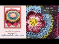Step-by-step instructions for Sophie's Universe part 2. The rounds shown in this video are also part of Sophie's Garden and Sophie's Mandala. This video is m...