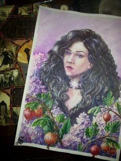 Yennefer of Vengerberg ●●● #йеннифэр #art #portrait #watercolor #artwork #artist #yenneferofvengerberg #арт #акварель #портрет #живопись #рисунок #instaart #творчество #artwork #painting #drawing  #watercolorart #paintings #realism #sapkowski #yennefer #book #witcher #сапковский #крыжовник #сирень #gooseberry #lilac #Wiedźmin