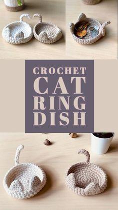 Crochet Basket Pattern, Easy Crochet Patterns, Crochet Designs, Crochet Stitches, Crochet Coaster Pattern, Crochet Baskets, Crochet Ideas, Crochet Home, Love Crochet