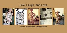 """Cute cowgirl """"pillowcase"""" style dress. Sew easy!   Handcrafted By Adriane"""