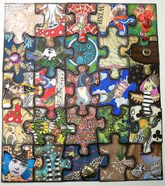 Another altered puzzle anyone? - PAPER CRAFTS, SCRAPBOOKING & ATCs (ARTIST TRADING CARDS)