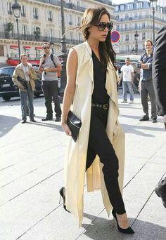 maxi vest outfit vbeckham
