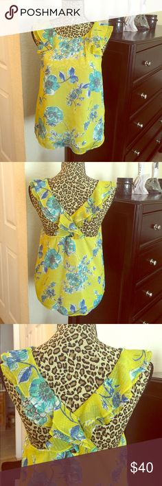 A floral cute blouse Floral cute blouse with back and sleeves ruffes Zara Tops Blouses