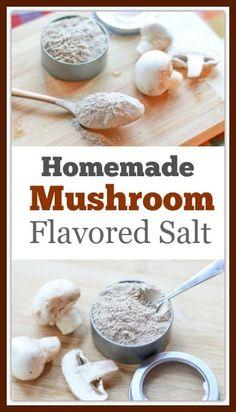 Easy Homemade Mushroom Salt Recipe- a delicious flavored salt Homemade Spice Blends, Homemade Spices, Homemade Seasonings, Spice Mixes, Seasoning Salt Recipe, Seasoning Mixes, Plat Vegan, Tandoori Masala, Garam Masala