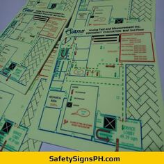 Glow in the Dark Emergency Evacuation Maps Sign Printing, Printing Services, Evacuation Plan, Building Map, Exit Sign, Acrylic Panels, Philippines, The Darkest