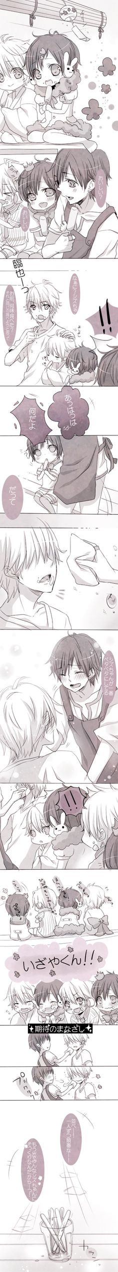 Too cute!!! Couldn't pass this up. . . Still don't ship shizaya but this is just to adorable