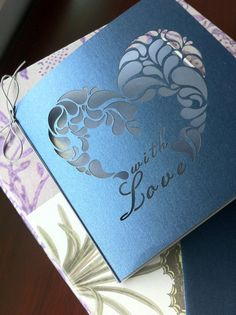 With Love Wedding Invitation Laser Cut