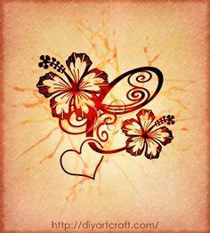 Sfumature colorate su 3 monogrammi fantasiosi: lettere stilizzate BF | tattoo diyartcraft