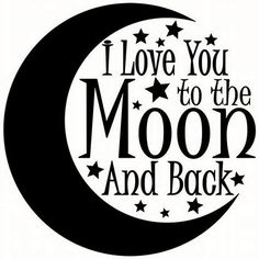 Image result for love you to the moon and back clip art
