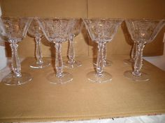 Fostoria Crystal Heather 6 oz Champagne Glasses Set of 8 Fostoria Crystal, Champagne Glasses, China Dinnerware, Alter Ego, Have Some Fun, Vintage Home Decor, Crystals, Antiques, Tableware