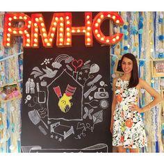 Philanthropy Round decor incorporating both ADPi + RMHC colors.