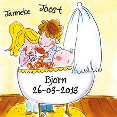 Ouders bij pasgeboren baby in de wieg- Greetz