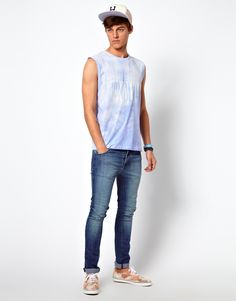 ASOS Sleeveless T-Shirt With Honolulu Print In Heat Reactive Jersey